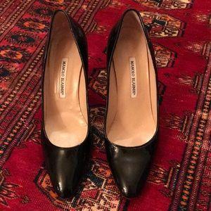 Manollo Blahnik 39.5 Black patent leather